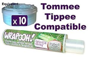 Wrapooh - Delineador de cassete de cesto de pañales compatible con Tommee Tippee. Ahora equivalente a aproximadamente 10 cassetes &fit all tubs&. Por favor lea la descripción.  Bebé más noticias y comentarios