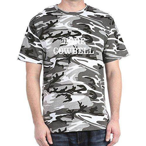 Cafepress More Cowbell Dark T-Shirt - L Black/White Camo