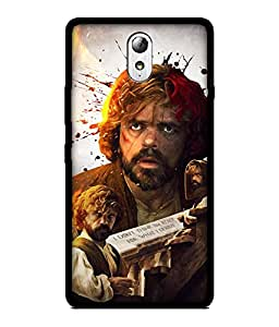 Chnno 2d game of thrones Printed Back Cover For Lenovo Vibe P1M No- 1588
