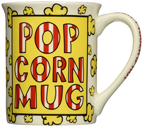Enesco Our Name is Mud by Lorrie Vesey Popcorn Recipe Mug, 5.25
