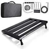 Vangoa Guitar Effect Pedal Board Case Aluminum Alloy with Bag, 22.2 x 12.78 x 2.75 inch