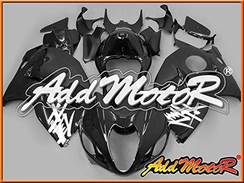 Addmotor 外装セット ストリート バイク SUZUKI GSXR1300 GSX1300R GSXR 1300 Hayabusa 1996 1997 1998 1999 2000 2001 2002 2003 2004 2005 2006 2007 96-07 用 クラシック ブラック S3610