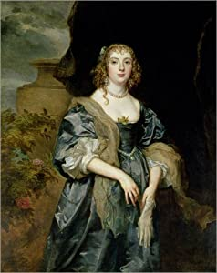 Canvas print 40 x 50 cm: Anne Carr by Anthonis van Dyck / Bridgeman Images - ready-to-hang wall picture, stretched on canvas frame, printed image on pure canvas fabric, canvas print