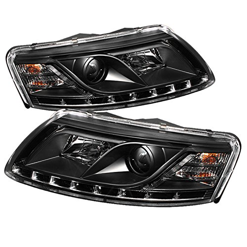 Spyder Auto Audi A6 Black DRL LED Crystal Headlight (Audi A6 2006 Headlight Assembly compare prices)