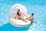 """Intex Canopy Island 78"""" X 59"""" Inflatable Water Lounge Raft with Air Pump"""