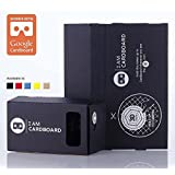 I AM CARDBOARD® 45mm Focal Length Virtual Reality Google Cardboard with Printed Instructions and Easy to Follow Numbered Tabs (WITH NFC) (Black)