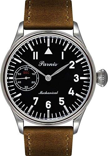 parnis-handaufzugsuhr-2088-herren-armbanduhr-matt-schwarz-mit-weissen-indices