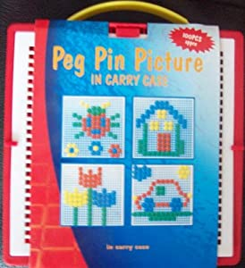 100 Piece Plastic Peg Pin Picture Set In Carry Case