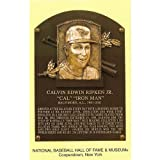 UNSIGNED Cal Ripken Jr. Hall of Fame Plaque Card