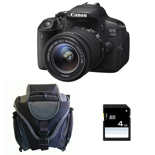 CANON EOS 700D + 18-55 IS STM + Sac + SD 4Go