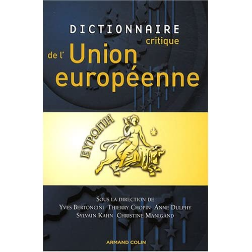 Dictionnaire critique de l'Union europenne