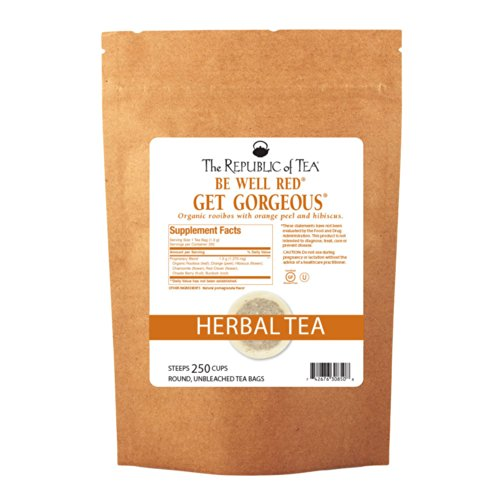 The Republic Of Tea Get Gorgeous - No. 1 Herb Tea For Clear Skin, 250 Tea Bags