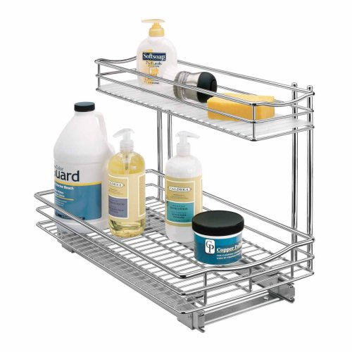 Top rated under kitchen sink organizer shelf under sink storage lynk professional roll out under sink cabinet organizer pull out two tier sliding shelf workwithnaturefo