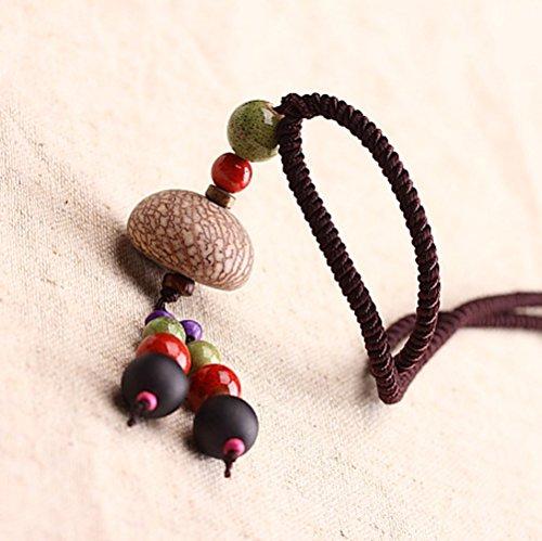 Drunk Wind Vintage Handmade Beaded Thousand Eyes Bodhi Adjustable Long Necklace