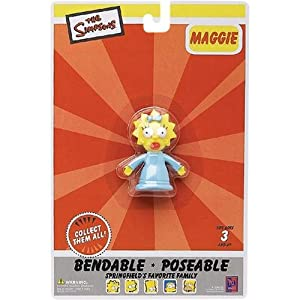 The Simpsons Maggie Simpson Bendable Figure
