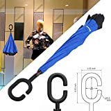 Glamore Creative Reverse Umbrella Straight Inverted Umbrella Inside Out Travel Umbrella
