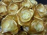 敬老の日数量限定 ゴールドローズ7本 金色のバラ生花花束アレンジメント フラワーギフト 誕生日プレゼント 結婚記念日 結婚祝い 還暦祝い 退職祝い お祝いなどに