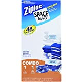 Space Bag BRS-86112-6, 2 Piece Cube Combo Vac Bags (1 Large and 1 Extra Large) Clear, 6- Foot by 2- Inch by 13- Inch