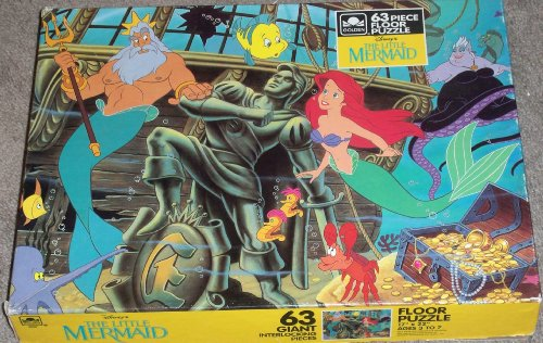 Cheap Golden Disney the Little Mermaid 63 Piece Floor Puzzle – Ariel Under the Sea – By Golden (B002G1IS00)