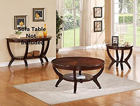 Brand New 3-pk Brownstown Coffee Table and End Table (x2) Cocktail set