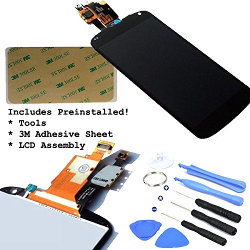 Black Lcd Display Touch Screen Glass Panel Digitizer Assembly Repair Part For Lg Google Nexus 4 E960