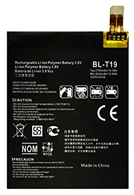 Bastex Internal Replacement Battery for Google Nexus 5x (H791), 3.8V(2700mAh)(10.3Wh) Li-Polymer with Free Repair Tool Kit for Google Nexus 5x(H791) from Bastex