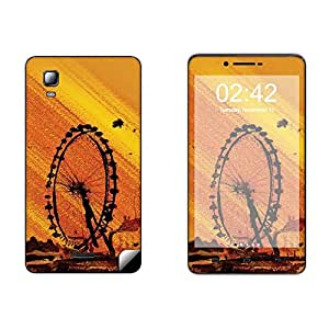 Skintice Designer Mobile Skin Sticker for Micromax Doodle 3 A102, Design - London eye