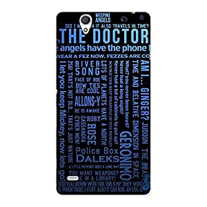 Stylish Blue Doc Angel Back Case Cover for Sony Xperia C4