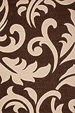 Lalee Handgecarvter Rug in Mocha Floral Designs and 3-d - Optics, Netherlands Utrecht - Mocha, 240 cm X 330 cm, Jwhj2 - 240-330