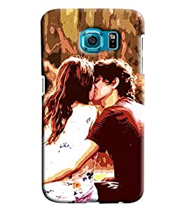 Clarks Cuouple Kissing Hard Plastic Printed Back Cover/Case For Samsung Galaxy S6 Edge