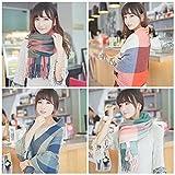 【Momo´s fashion shop】 大判 マフラー ストール チェック レディース  [ カラー選択可] マフラー ストール