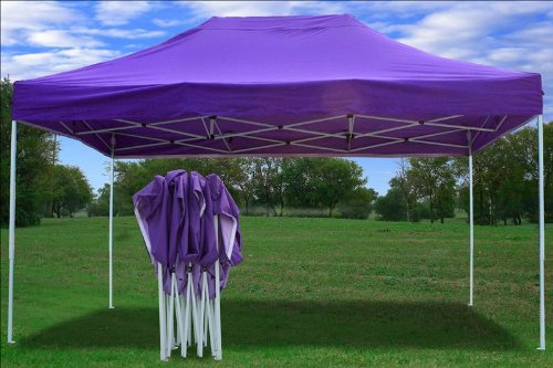 10x15 Pop up 4 Wall Canopy Party Tent Gazebo Ez Purple