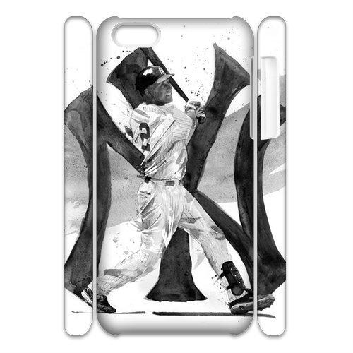 Newest Diy Derek Jeter Apple Iphone 5C 3D Cover Case Un011245 front-133523