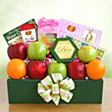 Health Fruit and Treats Frest Fruit Gift Basket with Cheese and Cookies