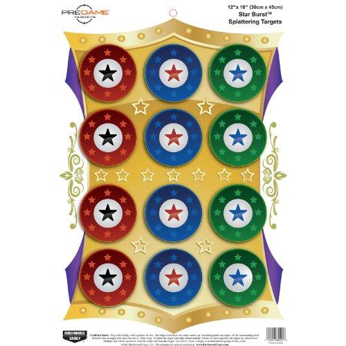 Birchwood Casey Pregame Star Burst 12 x 18-Inch Target