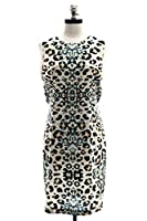 Brochu Walker Dallan Dress in Leopard/Whisper White