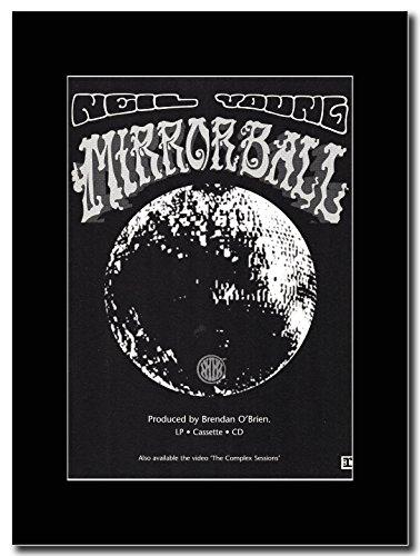 Looky Looky Neil Young-Mirror Ball Magazine Promo su un supporto, colore: nero
