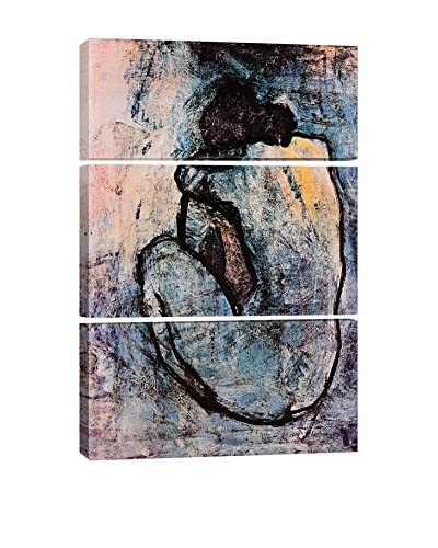 Pablo Picasso Blue Nude Gallery Wrapped Triptych Canvas Print