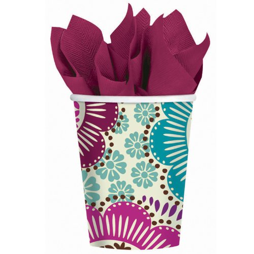 Fashion Floral 9 oz. Cups - 1