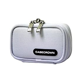 CaseCrown Double Memory Foam Padded Camera Case (Nylon White) &#102;&#111;&#114; &#116;&#104;&#101; <A href=