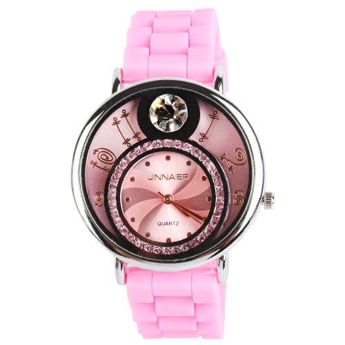 Yesurprise New Classic Trendy Crystal Rubber Jelly Silicone Lady Girls Casual Sport Wrist Watch for Graduation Party Gift Trendy #9