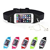 Running Belt Waist Pack, Se7enline Outdoor Dual Large Pocket Sports Sweatproof Reflective Belt Waist Bag Clear Touch Screen Window for iPhone 6S /6 Plus, Samsung Galaxy S6 S5 S4 Note 5 4 3 ,LG