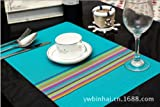Clest F&H PVC table placemats waterproof Slip-resistant table pad Heat insulation pad set of 2 Free Shipping 12