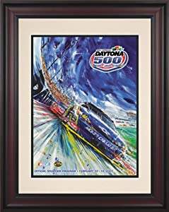 NASCAR Daytona 500 Program Framed Vintage Advertisement Race Year: 49th Annual - 2007 by Mounted Memories
