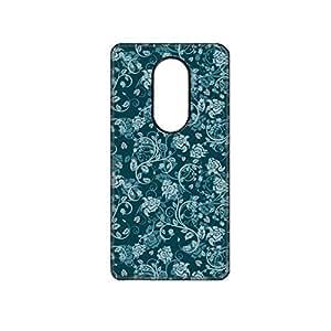 Vibhar printed case back cover for Moto X Play BlueBeige