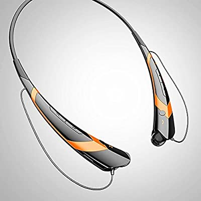 ON THE WAY®2014 Newest APT-X HBS-760 Bluetooth V4.0 Wireless Stereo Headset Neckband style Earphone Stereo Sports/Running & Gym/Exercise Bluetooth Earbuds Headphones Headsets with Microphone for Iphone 5S 5C 4S 4, Ipad 2 3 4 New iPad,iPad Air Ipod, Andro