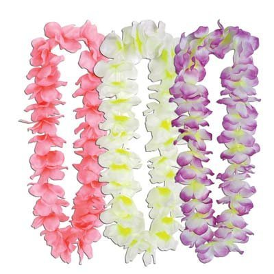 Silk 'N Petals Island Oasis Leis (asstd colors) Party Accessory  (1 count)