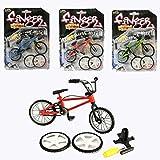 ミニチュア 自転車 フィンガーバイク BMX スペアタイヤ スタンド 工具付き 3点セット 11cm (3個セット)