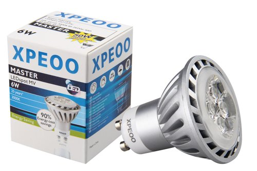 Xpeoo® Gu10 Led Lamp Bulb Light Spot Recessed Flood Lighting Replace 50W Halogen Energy Saving Smd Non-Dimmable Cool/Warm White Standard Base Socket 6W 110V 220V (Gu10 Non Dimmable Warm White 110V)