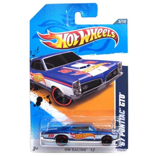 2012 Hot Wheels HW Racing '67 Pontiac GTO Blue/White #173/247 - 1